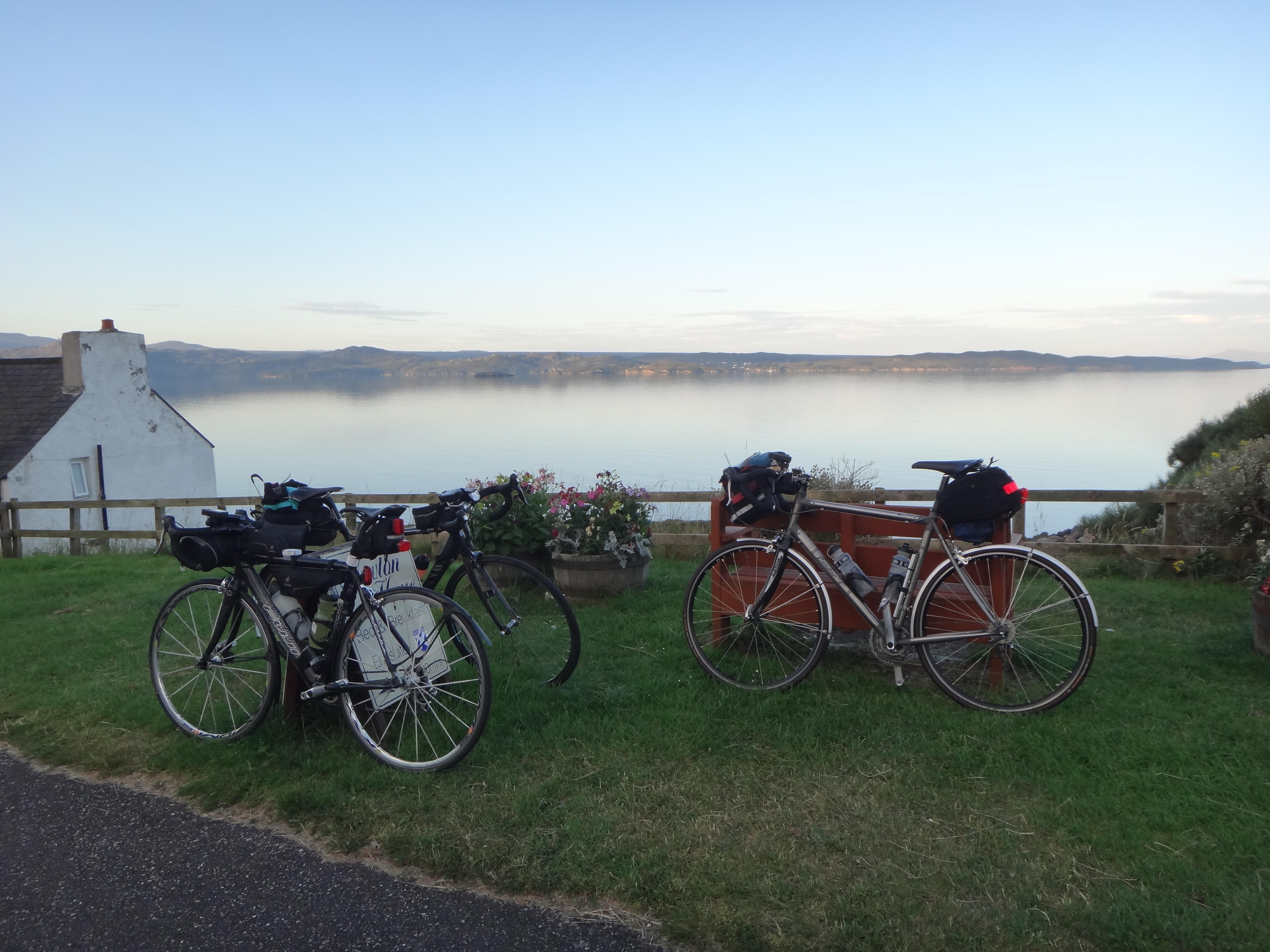 The next morning: getting ready to leave Gairloch
