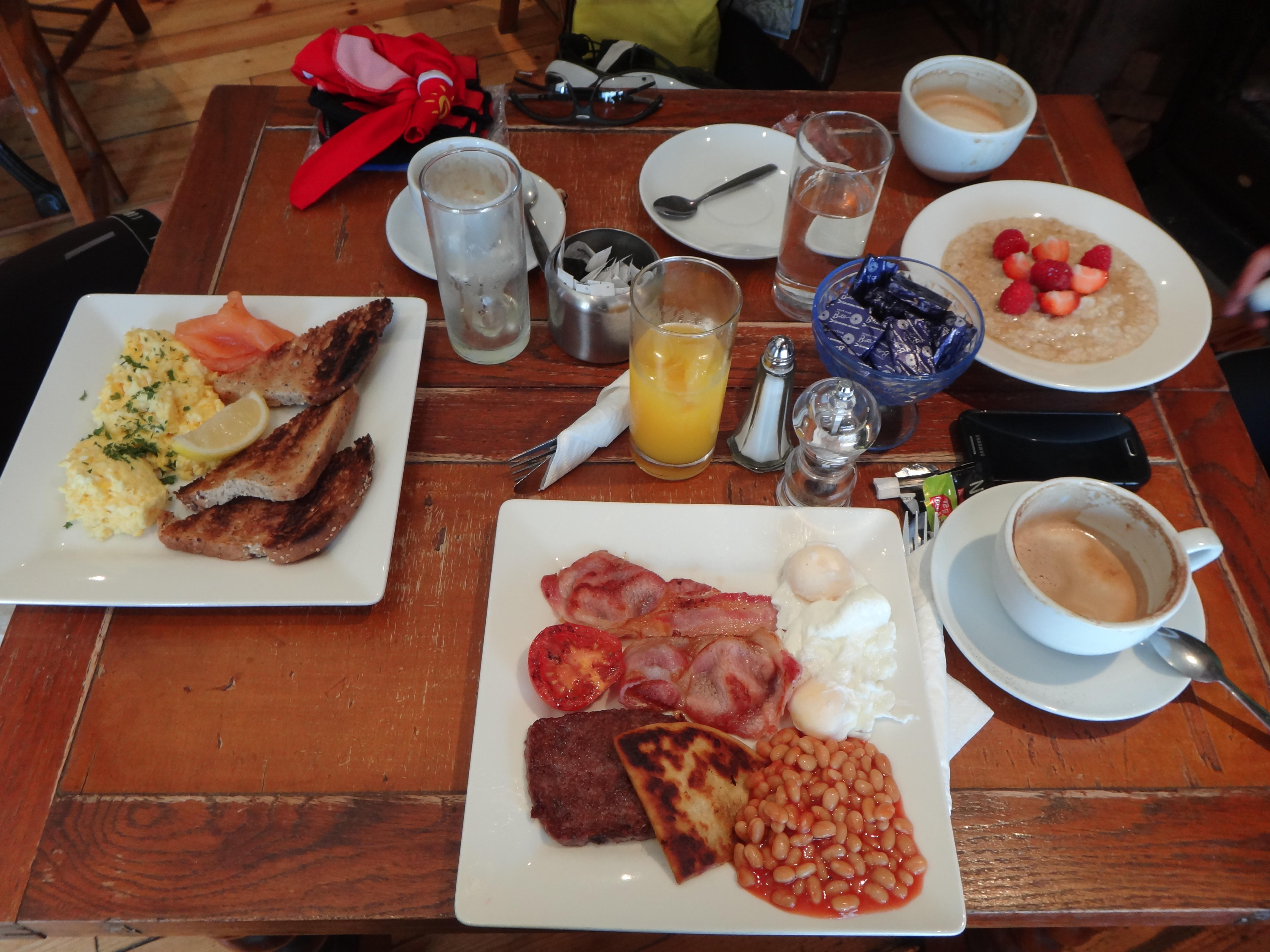 Our last breakfast on the road...
