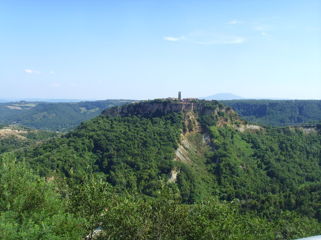 The hilltop community of Civita from Lubriano